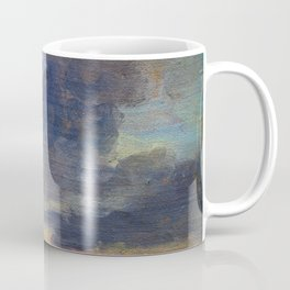 Cloud Study Over Flat Landscape - Digital Remastered Edition Coffee Mug