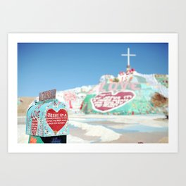 "Salvation Mountain Mail Box ""God is Love"" Art Print"