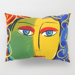 The Green Yellow Pop Girl Portrait Pillow Sham