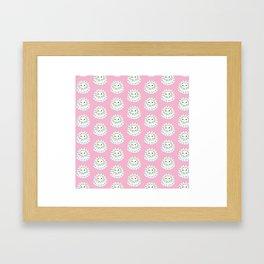 White Confetti Cake Framed Art Print