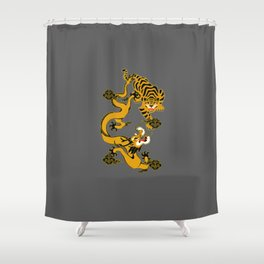 the mystical dragons and tigers of the East Shower Curtain