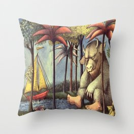 Inside All Of Us There Is A Wild Thing Throw Pillow