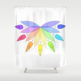 Sacred rainbow Shower Curtain