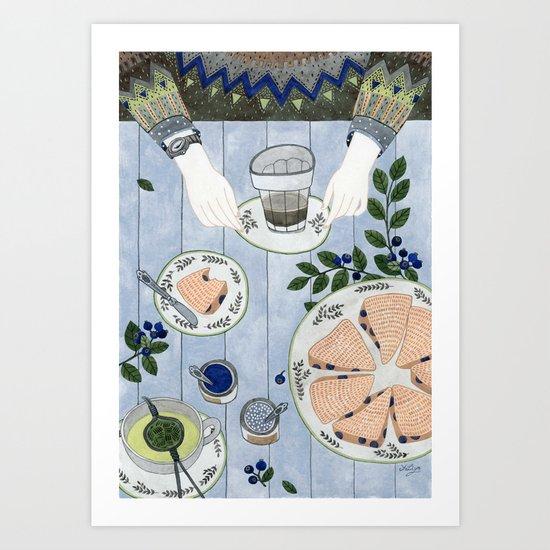 Blueberry Scones Art Print