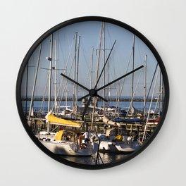 Sailboat Marina - Warnemünde - Baltic Sea Wall Clock