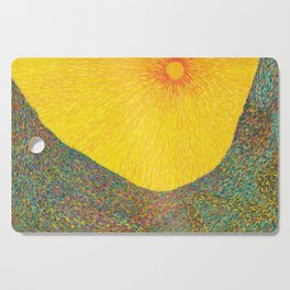 Here Comes the Sun - Van Gogh impressionist abstract Cutting Board