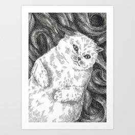Meowby Dick Art Print