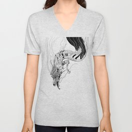 Falling dragon Unisex V-Neck
