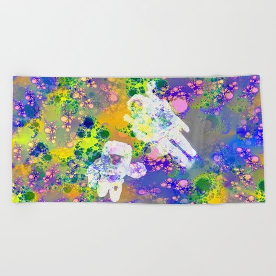 Psychedelic Space Beach Towel
