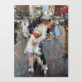 World War Kiss Canvas Print