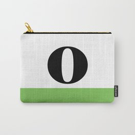 Monogram Letter O (color block) Carry-All Pouch