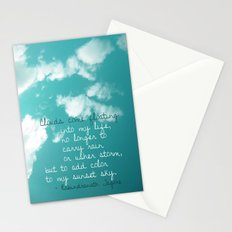 Clouds come floating... Stationery Cards