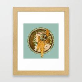 "Alphonse Mucha ""Byzantine Head: The Blonde"" edited Framed Art Print"