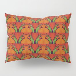 Gyan Mudra and the Radioactive Skeleton Twins Pillow Sham