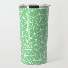 Connectivity - White on Mint Green Travel Mug