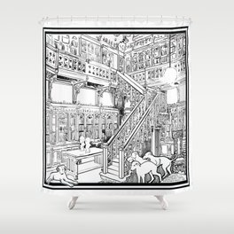 Borzoi puppies Shower Curtain