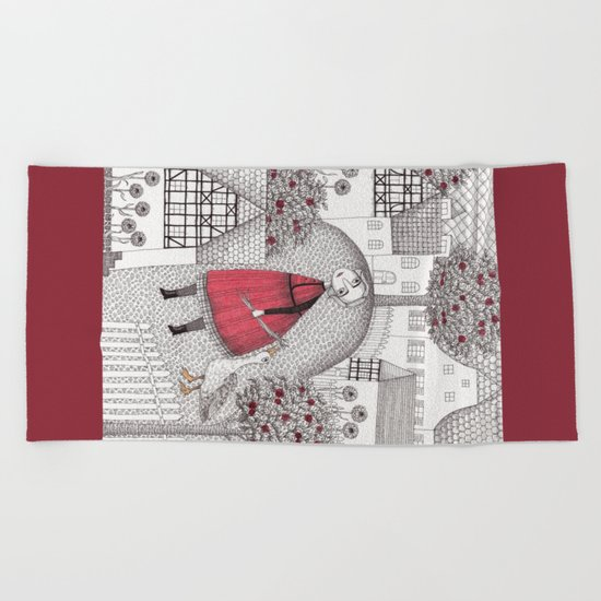 The Old Village Beach Towel