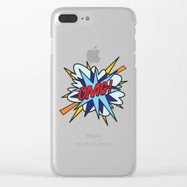Comic Book OMG! Clear iPhone Case