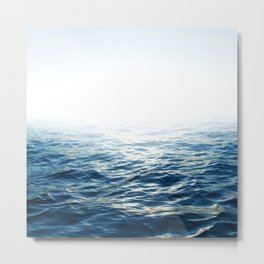 White Horizont H1 Metal Print