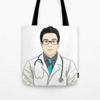 doctor Tote Bags featuring Doctor by BusOne - Aldo Campilongo