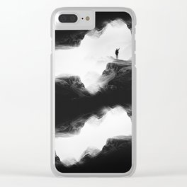 Hello from the The Upside Down World Clear iPhone Case