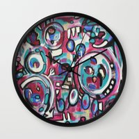 maps Wall Clocks featuring Maps by Mary Gaspar