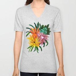 Colorful Daisies Unisex V-Neck