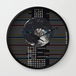 Full Moon. Insomnia. Lunacy. Werewolves Wall Clock