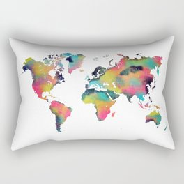 world map 3 Rectangular Pillow