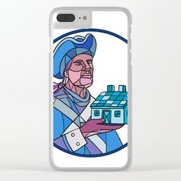 American Patriot House Mosaic Color Clear iPhone Case