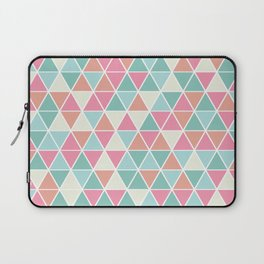Triangulation (pink and green) Laptop Sleeve