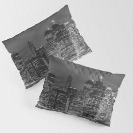 NEW YORK CITY Night Skyline | Panoramic Pillow Sham