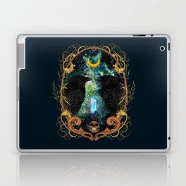 Raven Moon Oracle With Crystal Pendulum Laptop & iPad Skin