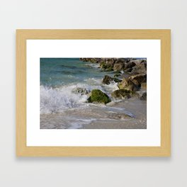 Crash and Splash Framed Art Print