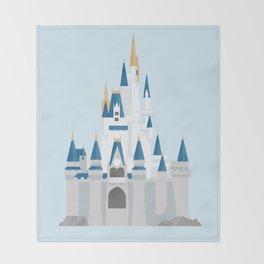 Cinderella's Castle Throw Blanket
