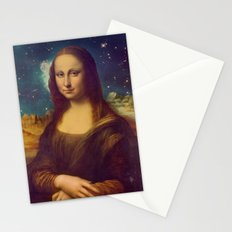 Mona Lisa's Galaxy Stationery Cards