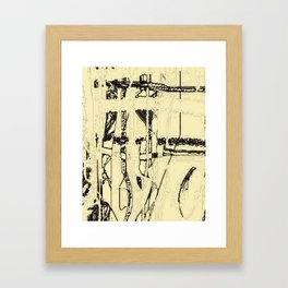 Plaid de mode Framed Art Print