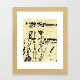 Plaid de mode Framed Art Print