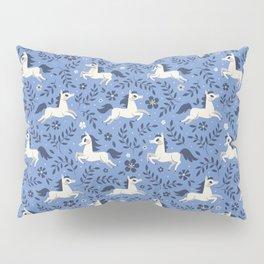 Floral Ponies (Light Blue) Pillow Sham