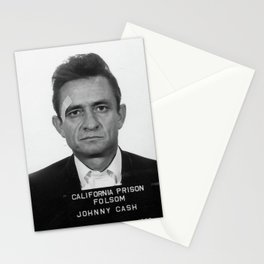 Johnny Cash Mugshot Stationery Cards