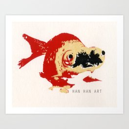 Gold Fish 2 Art Print