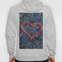 The love heart rises from the ashes and burns again Hoody