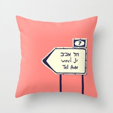 Tel Aviv This way Throw Pillow