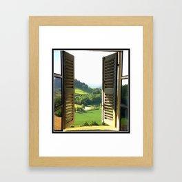 Italian Window Landscape Framed Art Print