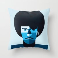 phil jones Throw Pillows featuring Phil Lynott by rubenmontero