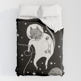 Space Cat Proves String Theory Exists Comforters