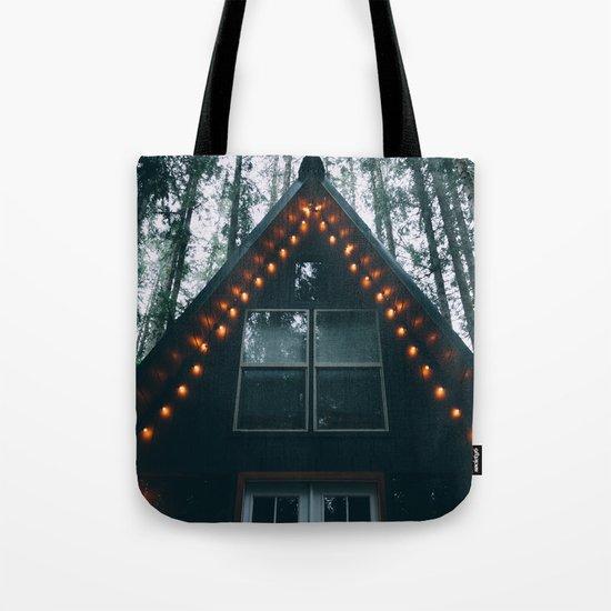Cabin #woods Tote Bag