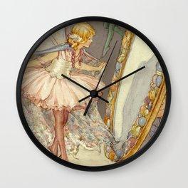 """Fairy Mirror"" by Margaret Tarrant Wall Clock"