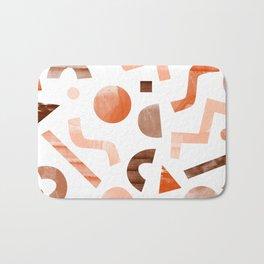 geometric shapes peach Bath Mat