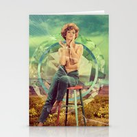 cigarette Stationery Cards featuring Cigarette Break by Ryan Haran